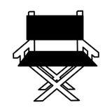 Icône de cinéma de chaise de directeur Photographie stock