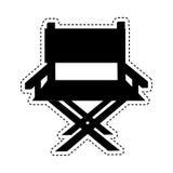 Icône de cinéma de chaise de directeur Photos libres de droits