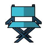 Icône de cinéma de chaise de directeur Photo libre de droits