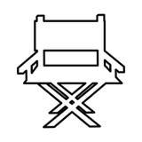 Icône de cinéma de chaise de directeur Photographie stock libre de droits