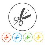 Icône de ciseaux Photos libres de droits