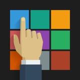 Icône 001 de clic de main Image libre de droits