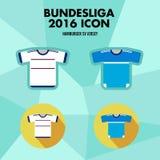 Icône de club du football de Bundesliga Photographie stock
