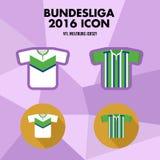 Icône de club du football de Bundesliga Photo stock