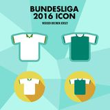 Icône de club du football de Bundesliga Images libres de droits