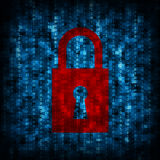 Icône de code binaire et de serrure Photos libres de droits