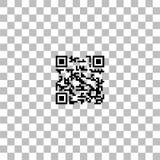 Ic?ne de code de Qr ? plat illustration stock