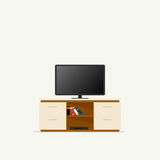 Icône de coffret de TV Photo libre de droits