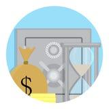 Icône de compartiment de coffre-fort illustration libre de droits