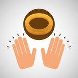 Icône de concept de dessert de biscuit Images stock