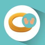 Icône de concept de dessert de biscuit Image stock