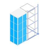 Icône de construction de bâtiments, style 3d isométrique Image stock