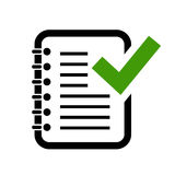 Icône de contrôle de grammaire de document illustration libre de droits