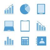 Icône de couleur d'affaires réglée sur le fond blanc Photo stock