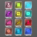 Icône de couleur d'Infographic Photos stock