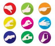 Icône de couleur de gestes de main d'affaires Images libres de droits