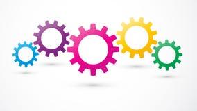 Icône de couleur de vitesses Image libre de droits