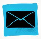 Icône de courrier de vecteur avec le fond blanc Image libre de droits