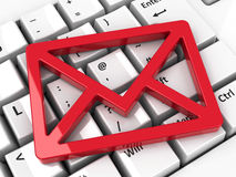 Icône de courrier sur le clavier Photo stock