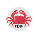 Icône de crabe Illustration de vecteur Fruits de mer Élément d'Infographic Photos libres de droits