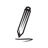 Icône de crayon Image libre de droits