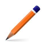 Icône de crayon d'isolement sur le fond blanc Photographie stock