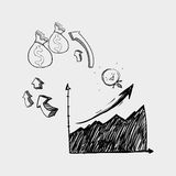 Icône de croquis Concept créateur Illiustration plat, vecteur illustration stock