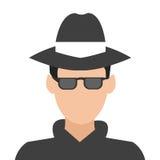 icône de détective ou d'espion Photo stock