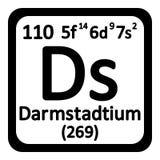 Icône de darmstadtium d'élément de table périodique Photo stock