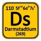 Icône de darmstadtium d'élément de table périodique Photographie stock libre de droits