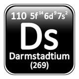 Icône de darmstadtium d'élément de table périodique Photos stock