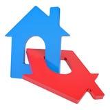 Icône de deux maisons Image libre de droits