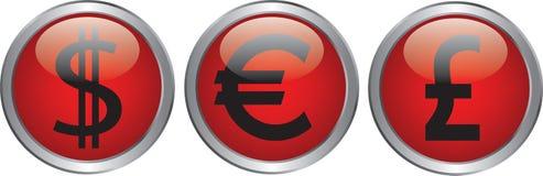 Icône de devise Photographie stock libre de droits