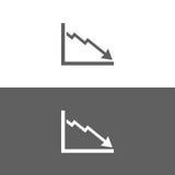 Icône de diagramme de faillite illustration libre de droits