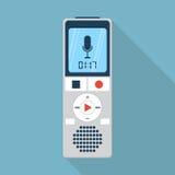 Icône de dictaphone, style plat de conception Images libres de droits