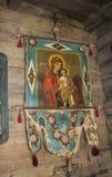Icône de Dieu de mère Église ukrainienne Image libre de droits