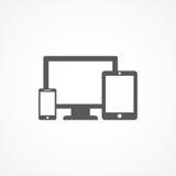 Icône de dispositifs Photos libres de droits