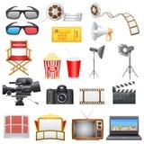 Icône de divertissement et de cinéma Photographie stock libre de droits