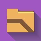 Icône de dossier, conception plate Image libre de droits