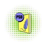 Icône de dossier de PSD dans le style de bandes dessinées Photos libres de droits