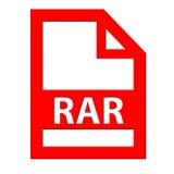 Icône de dossier de RAR Photographie stock libre de droits