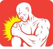 Icône de douleur d'épaule Images stock