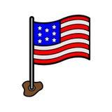Icône de drapeau américain Images stock