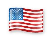 Icône de drapeau des Etats-Unis illustration stock