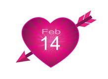 Icône de février quatorze de Saint-Valentin illustration stock