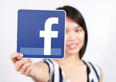 Icône de Facebook Photo stock