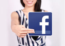 Icône de Facebook Images stock