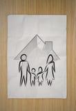 icône de famille comme concept d'assurance Images libres de droits