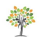 Icône de feuille d'arbre de santé de famille Photo stock