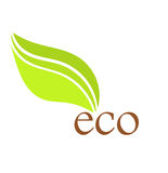 Icône de feuille d'Eco Images libres de droits